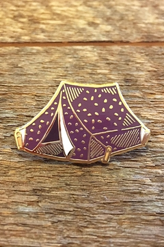 Shoptiques Product: Tent Enamel Pin