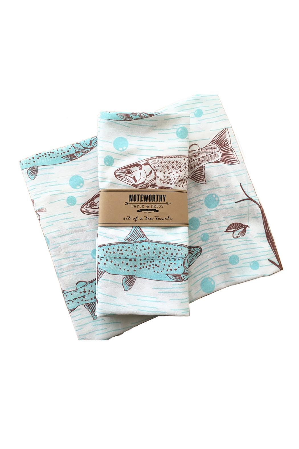 Noteworthy Paper & Press Trout Tea Towels - Front Cropped Image
