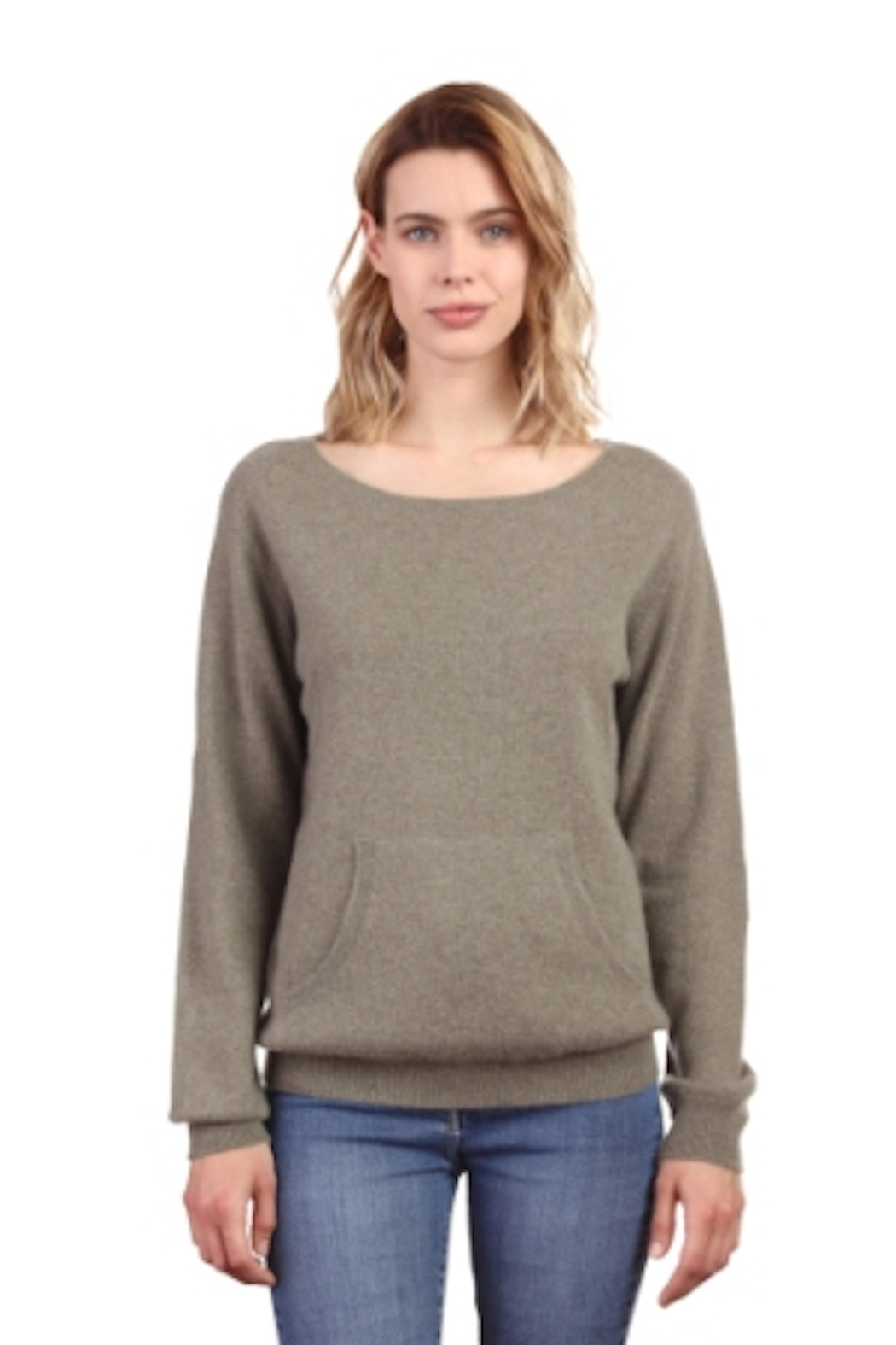 NOTSHY Cashmere NOTSHY Gold Patch Sweater - Front Cropped Image