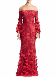 Notte by Marchesa 3d Embroidered Gown - Product Mini Image