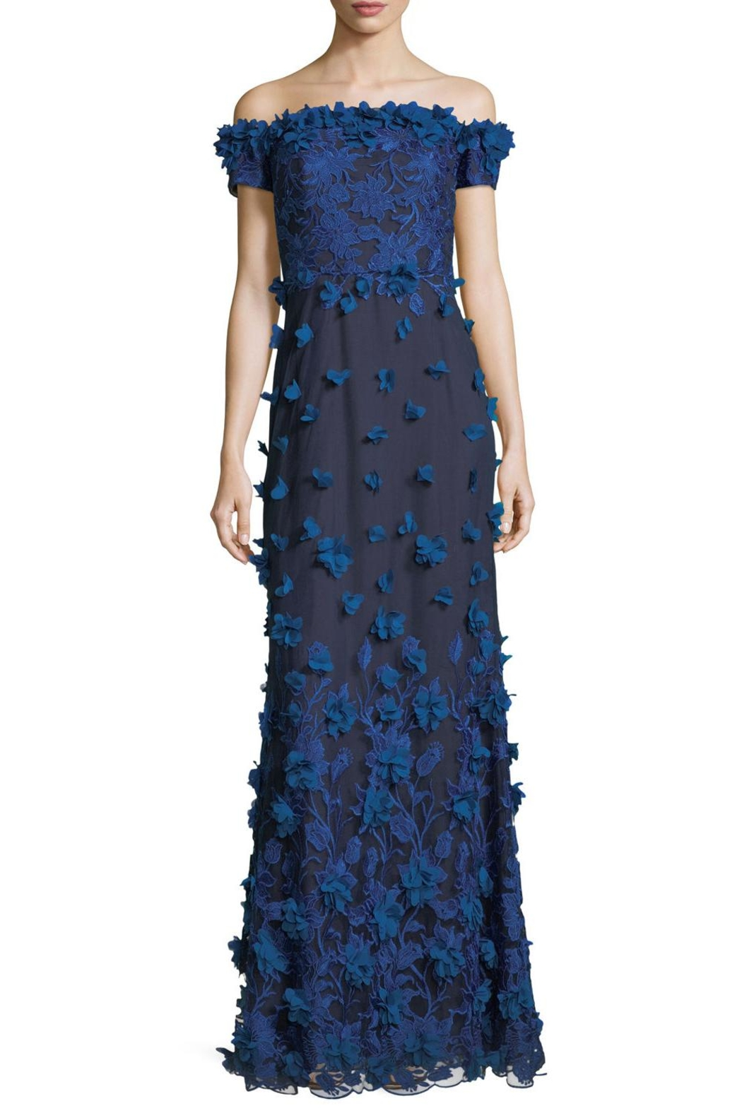 Marchesa 3d Petal Gown - Front Cropped Image