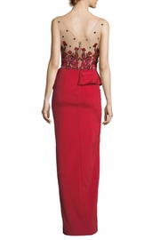 Notte by Marchesa Beaded Column Gown - Front full body