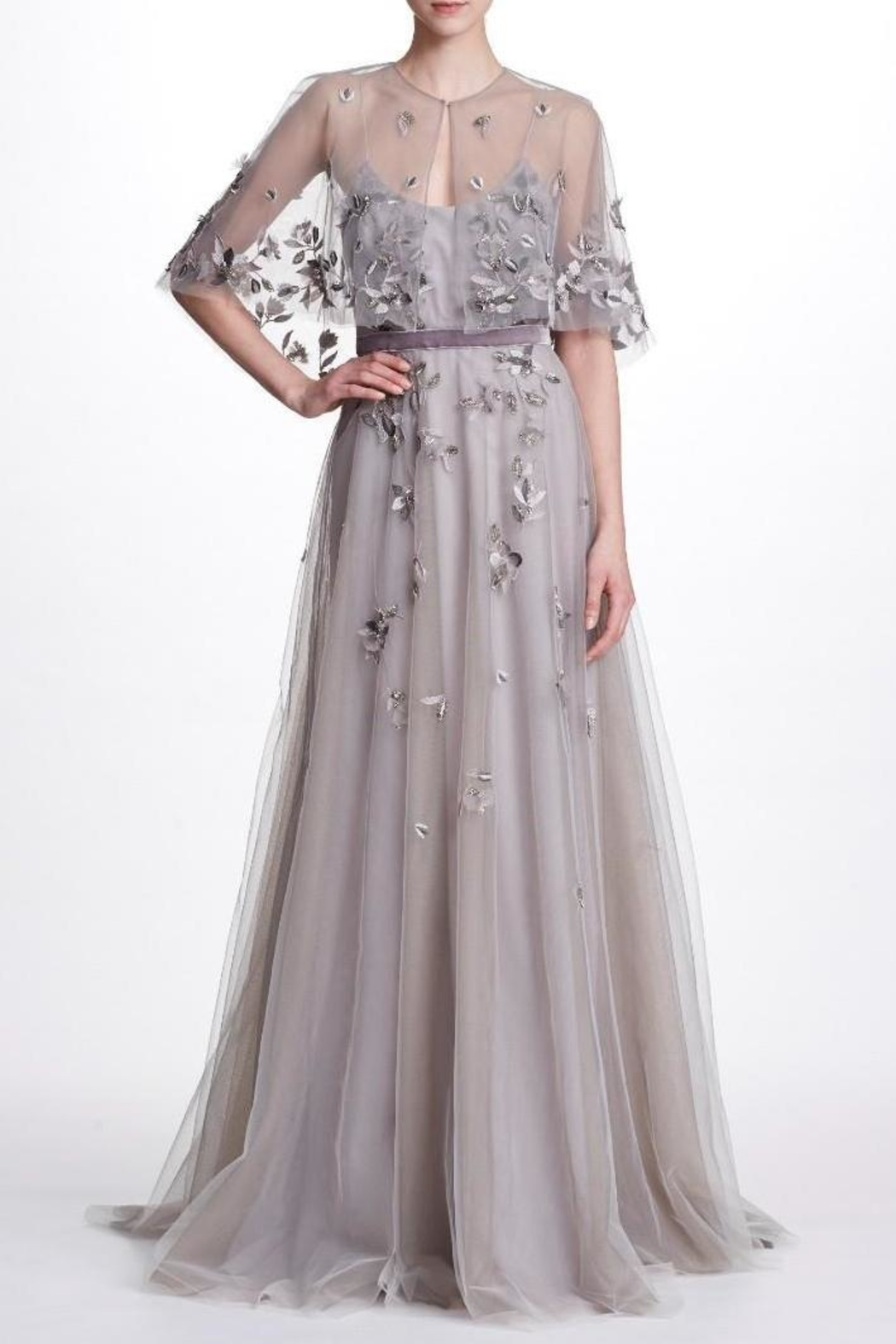Marchesa Beaded Tulle Gown - Main Image