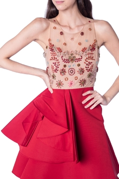 Notte by Marchesa Bejeweled Red Cocktail - Alternate List Image
