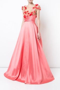 Notte by Marchesa Cap Sleeve Gown - Product List Image