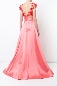 Notte by Marchesa Cap Sleeve Gown - Alternate List Image