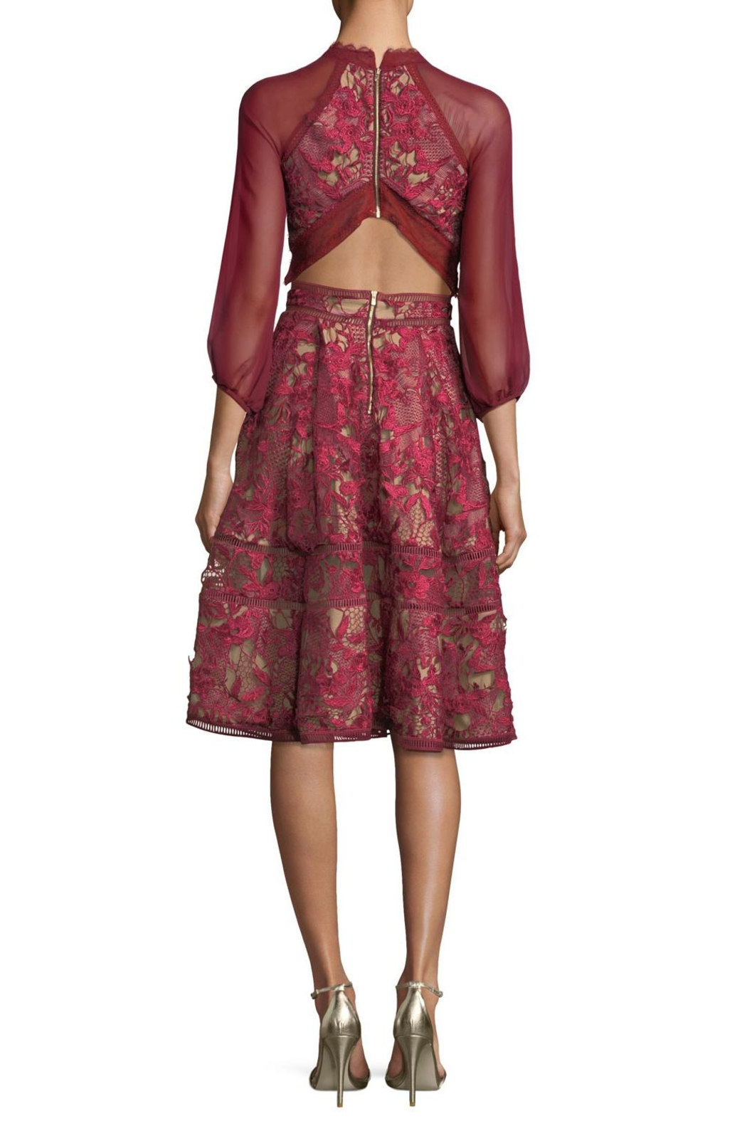 Notte by Marchesa Red Cocktail Dress - Front Full Image