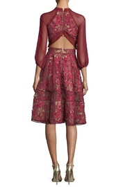 Notte by Marchesa Chiffon Sleeve Dress - Front full body
