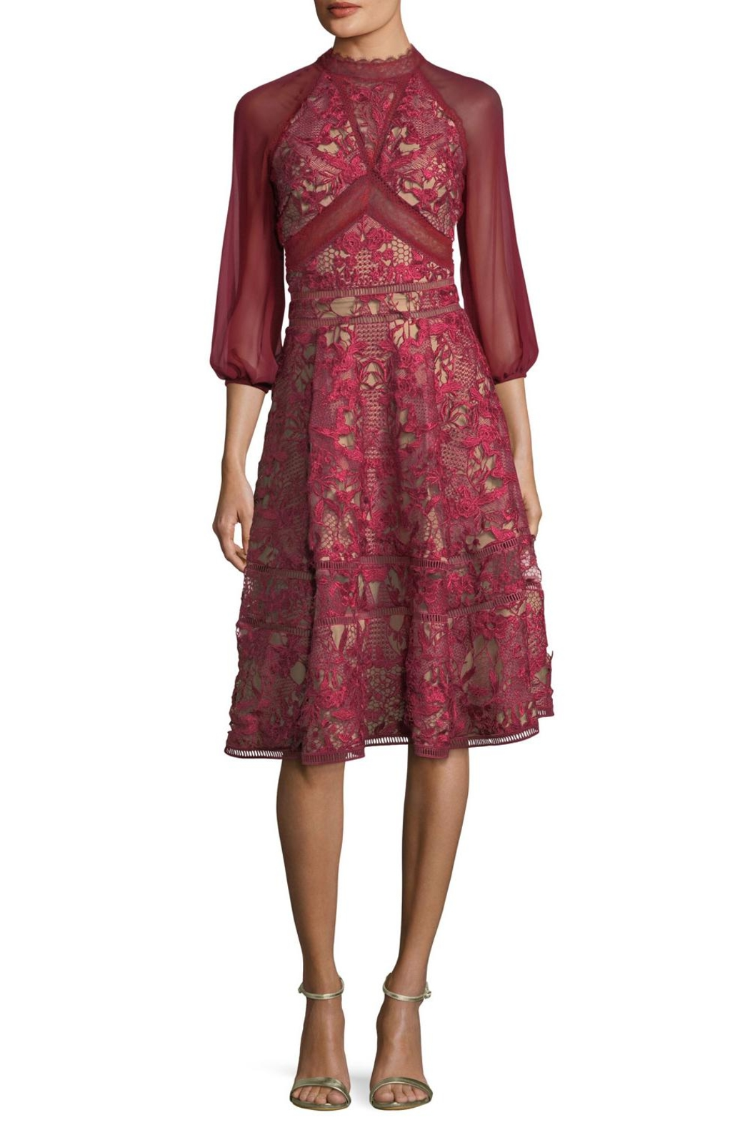 Notte by Marchesa Chiffon Sleeve Dress - Main Image