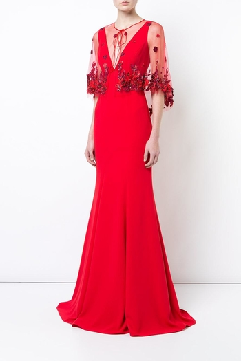 Marchesa Crepe Evening Gown from New Jersey by District 5 Boutique ...