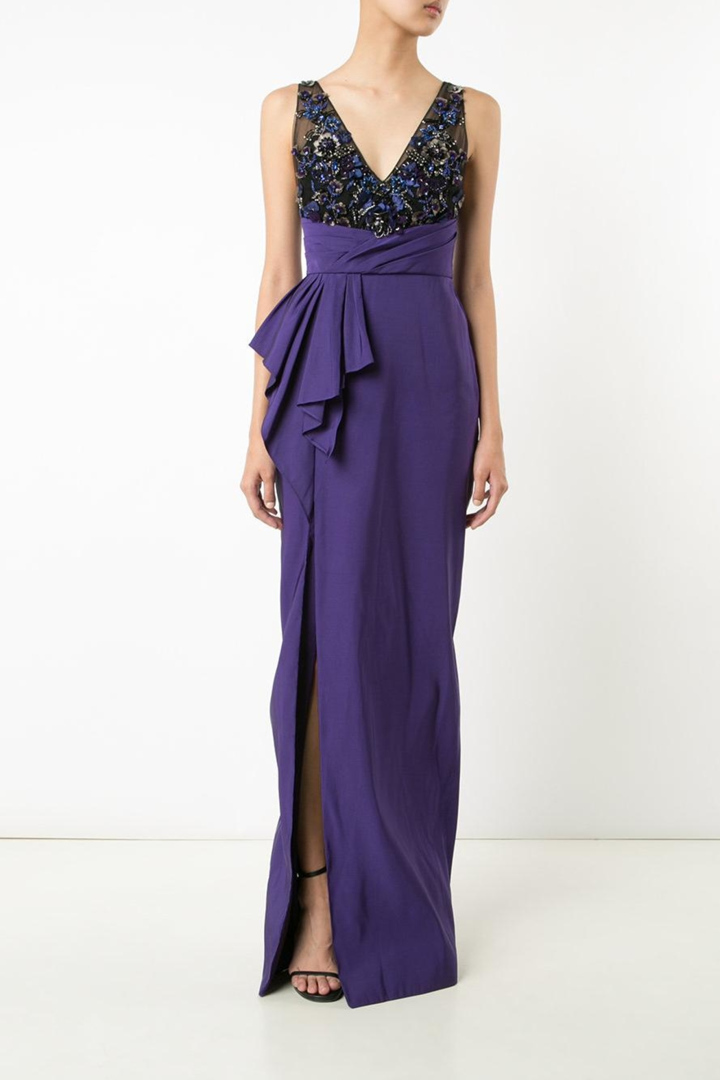Notte by Marchesa Draped Faille Gown - Main Image