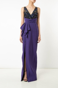 Notte by Marchesa Draped Faille Gown - Product List Image