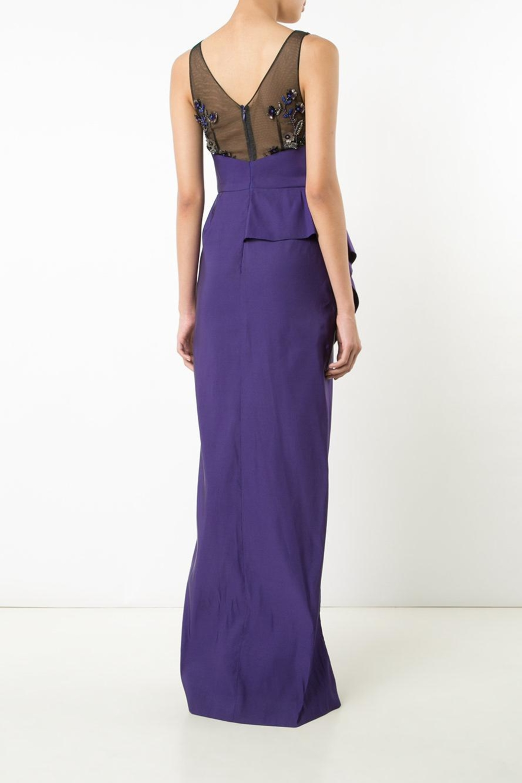 Notte by Marchesa Draped Faille Gown - Front Full Image