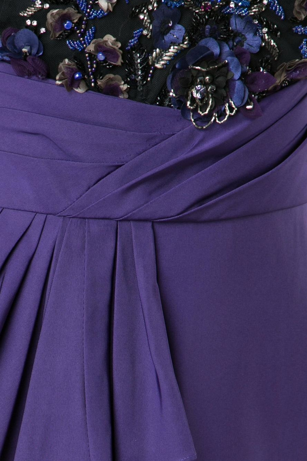 Notte by Marchesa Draped Faille Gown - Side Cropped Image