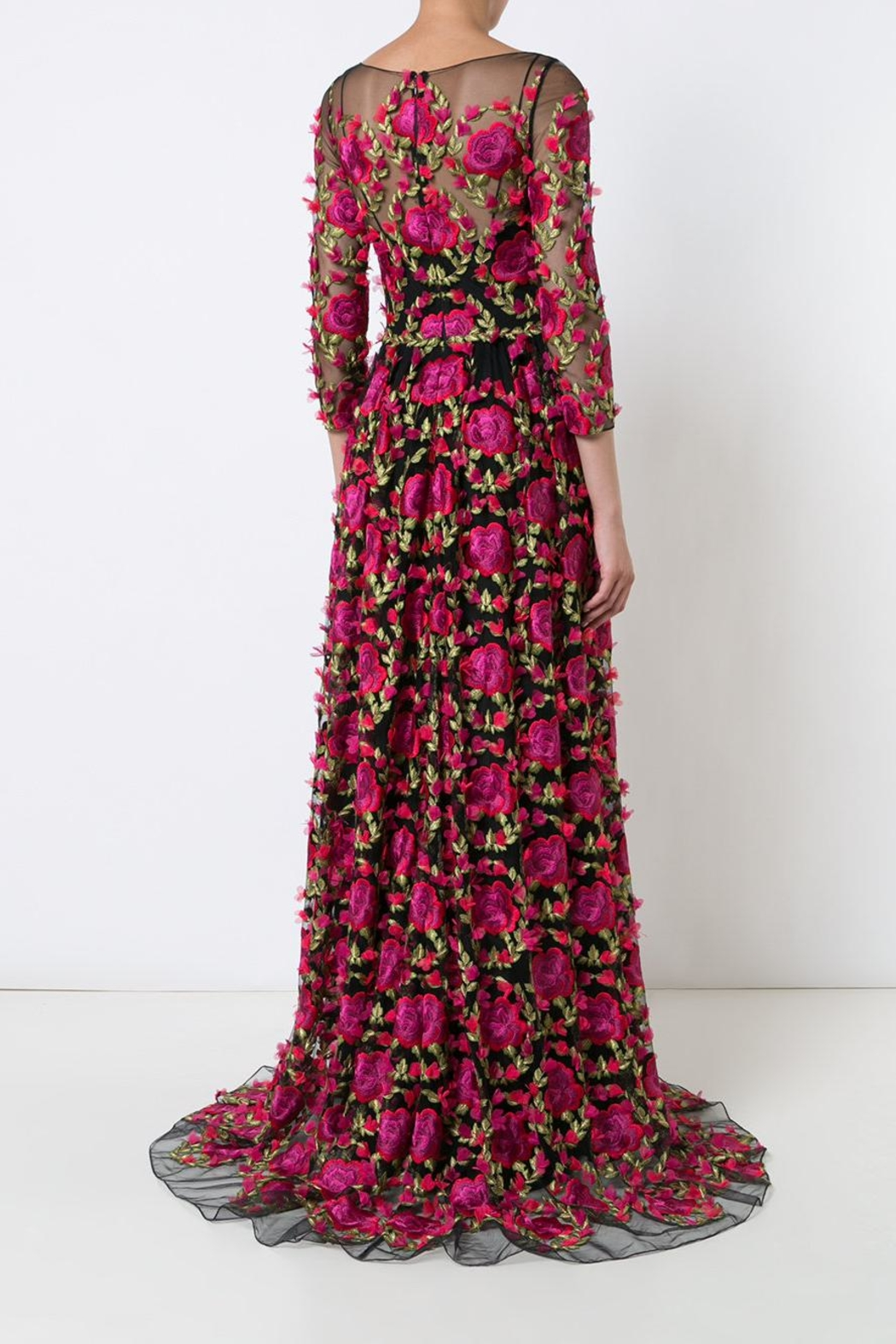 Notte by Marchesa Embroidered Evening Gown - Front Full Image