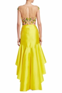Notte by Marchesa Embroidered Mikado Dress - Alternate List Image