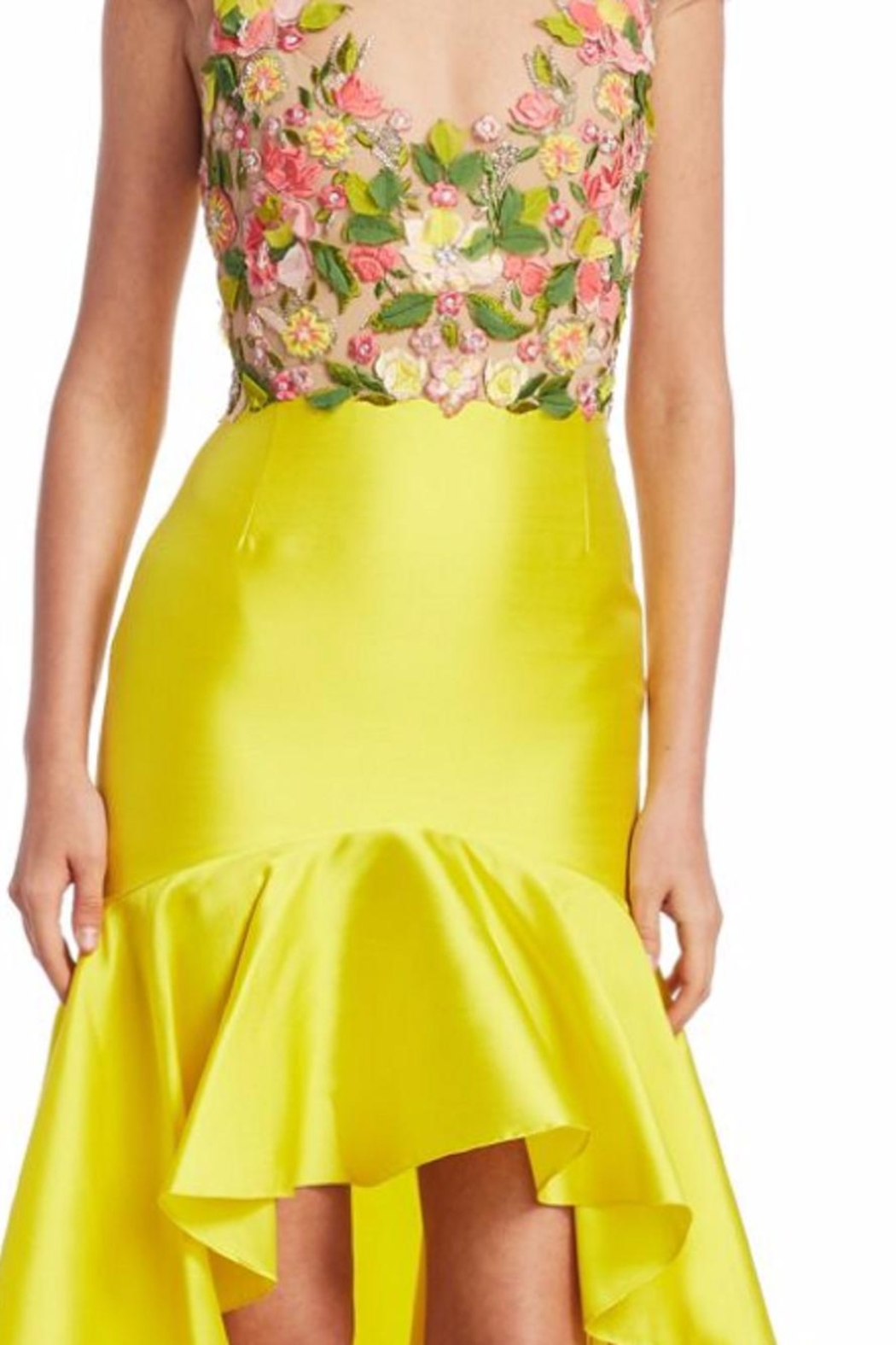 Notte by Marchesa High-Low Mikado Dress - Side Cropped Image
