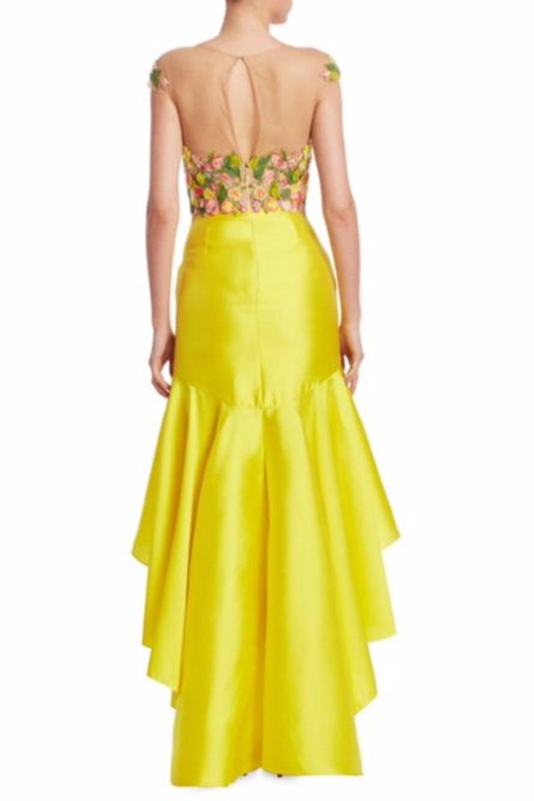 Notte by Marchesa High-Low Mikado Dress - Front Full Image