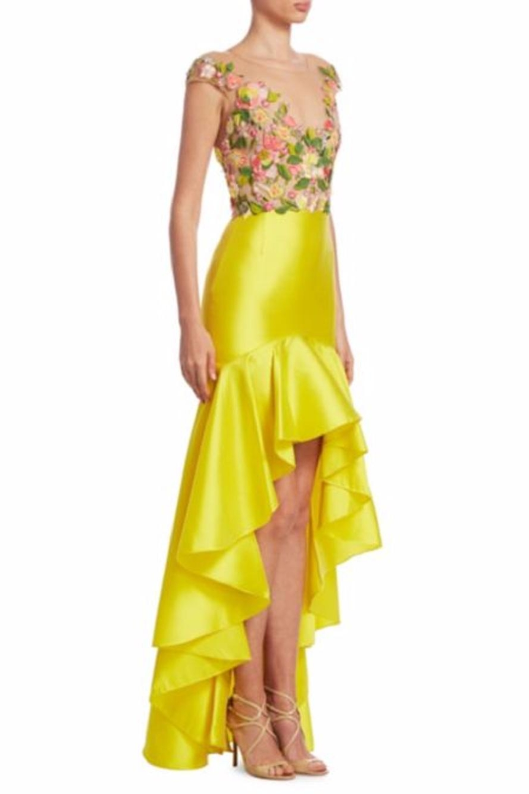 Notte by Marchesa High-Low Mikado Dress - Front Cropped Image