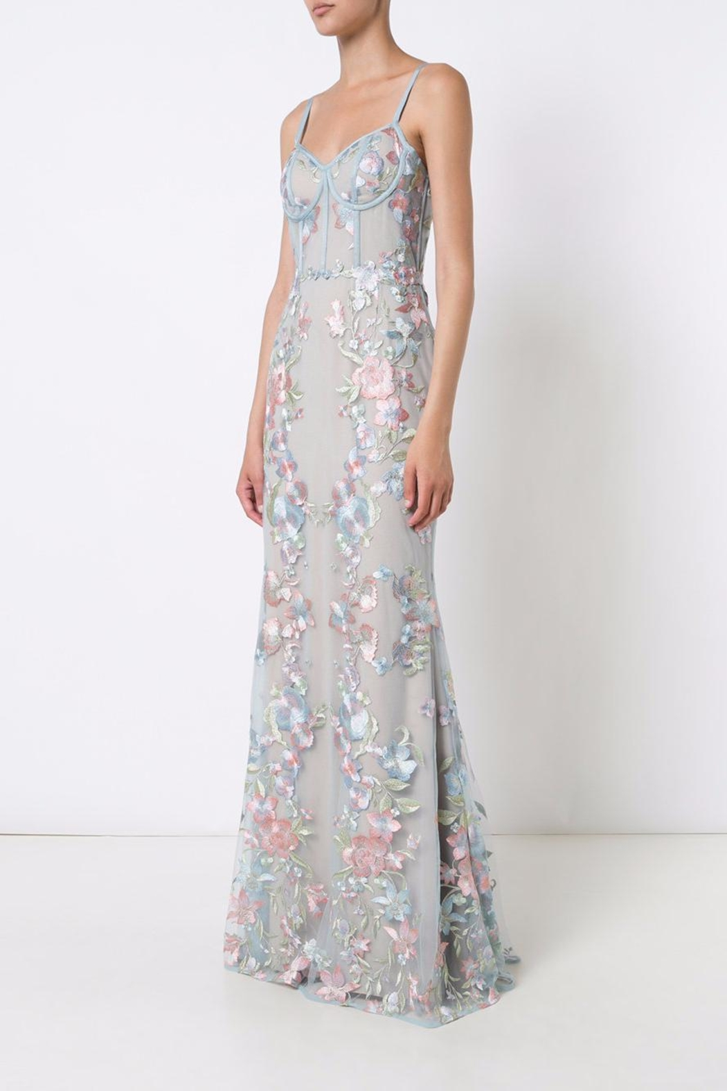 Marchesa Embroidered Tulle Gown Front Full Image