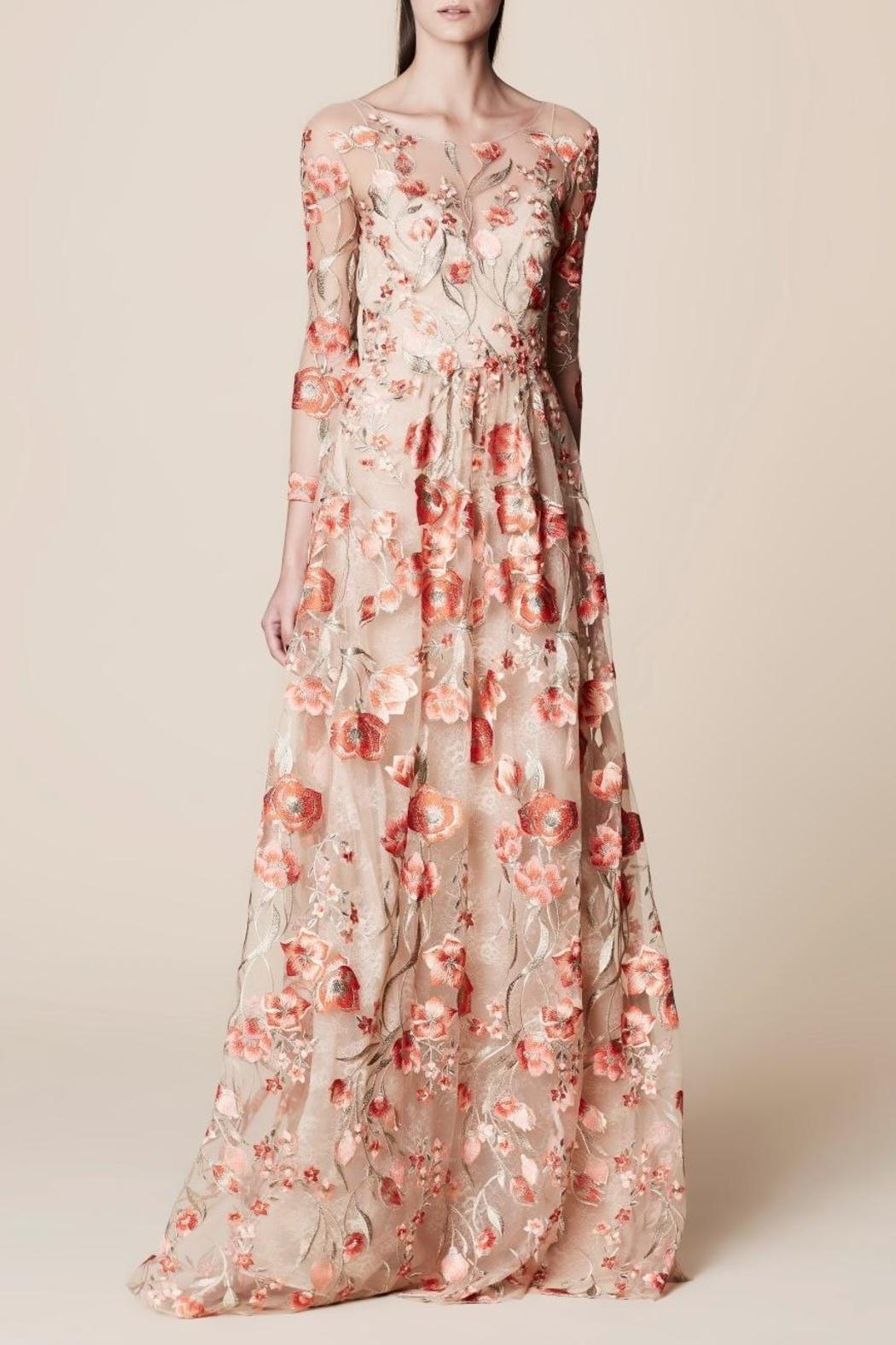Marchesa Floral Embroidered Gown from New Jersey by District 5 ...