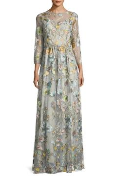 Notte by Marchesa Floral Embroidered Gown - Product List Image