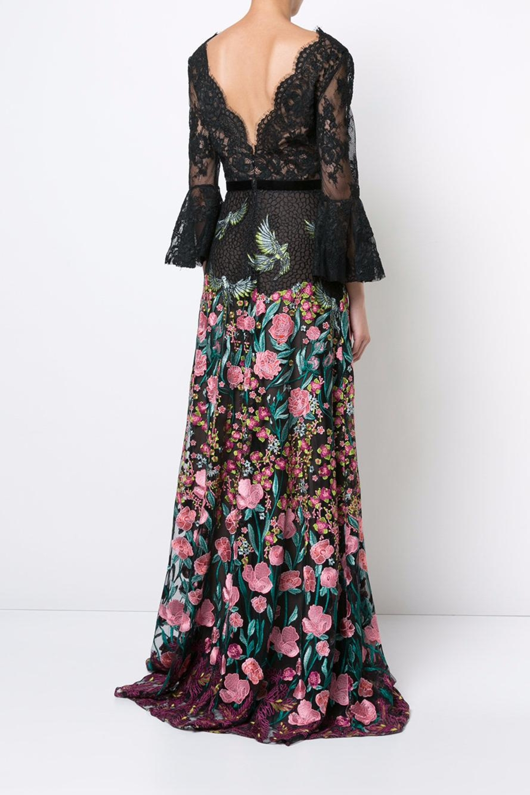 Notte by Marchesa Floral Evening Gown - Side Cropped Image