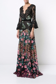 Notte by Marchesa Floral Evening Gown - Front full body