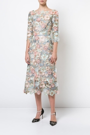 Marchesa Floral Lace Dress - Front cropped