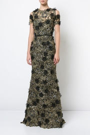 Marchesa Cold Shoulder Gown - Front cropped