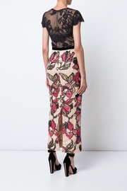 Marchesa Floral Sequin Dress - Front full body