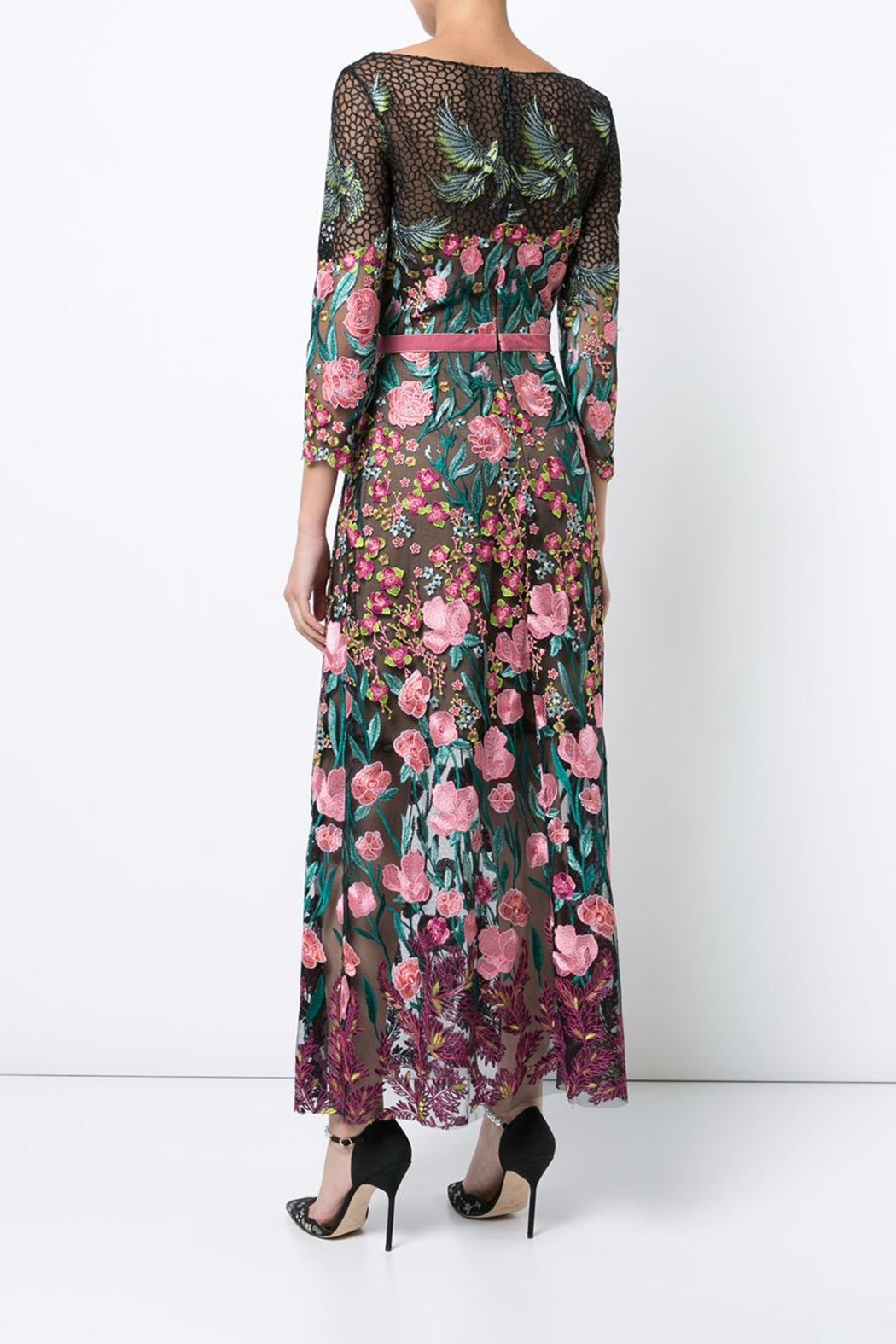 Notte by Marchesa Floral Tea Dress - Back Cropped Image