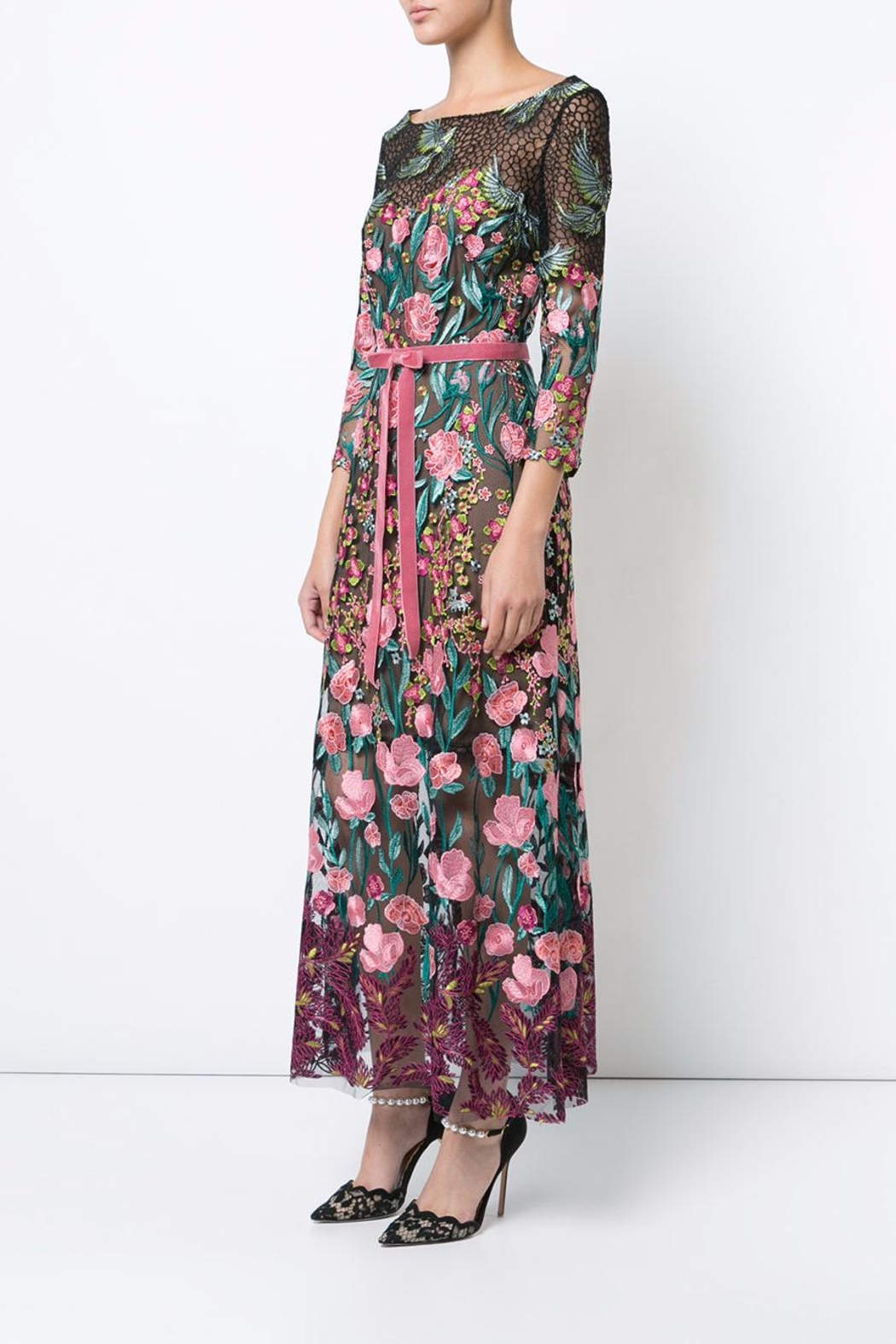 Notte by Marchesa Floral Tea Dress - Side Cropped Image