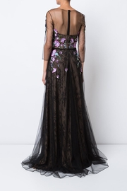 Marchesa Floral Tulle Gown - Front full body