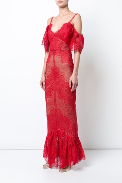 Notte by Marchesa Guipure Evening Gown - Product List Image