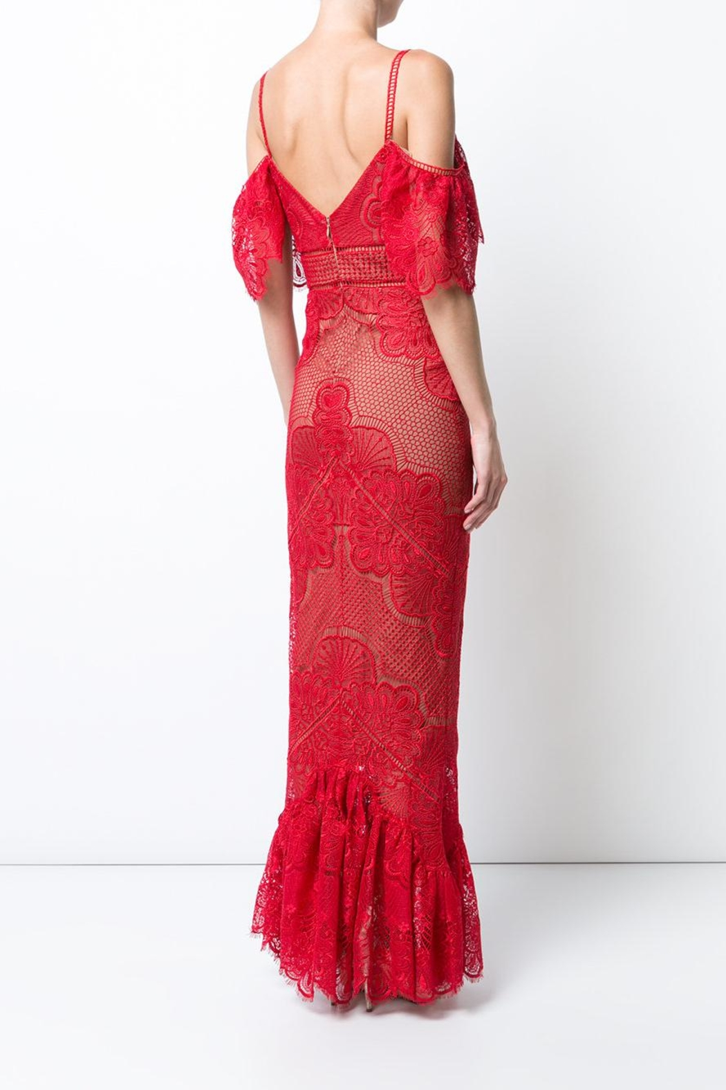 Marchesa Guipure Evening Gown - Front Full Image