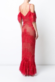 Marchesa Guipure Evening Gown - Front full body