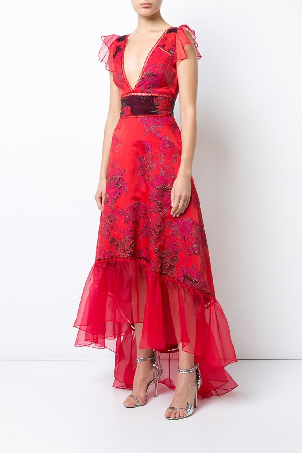 Notte by Marchesa High Low Plunging Gown - Main Image