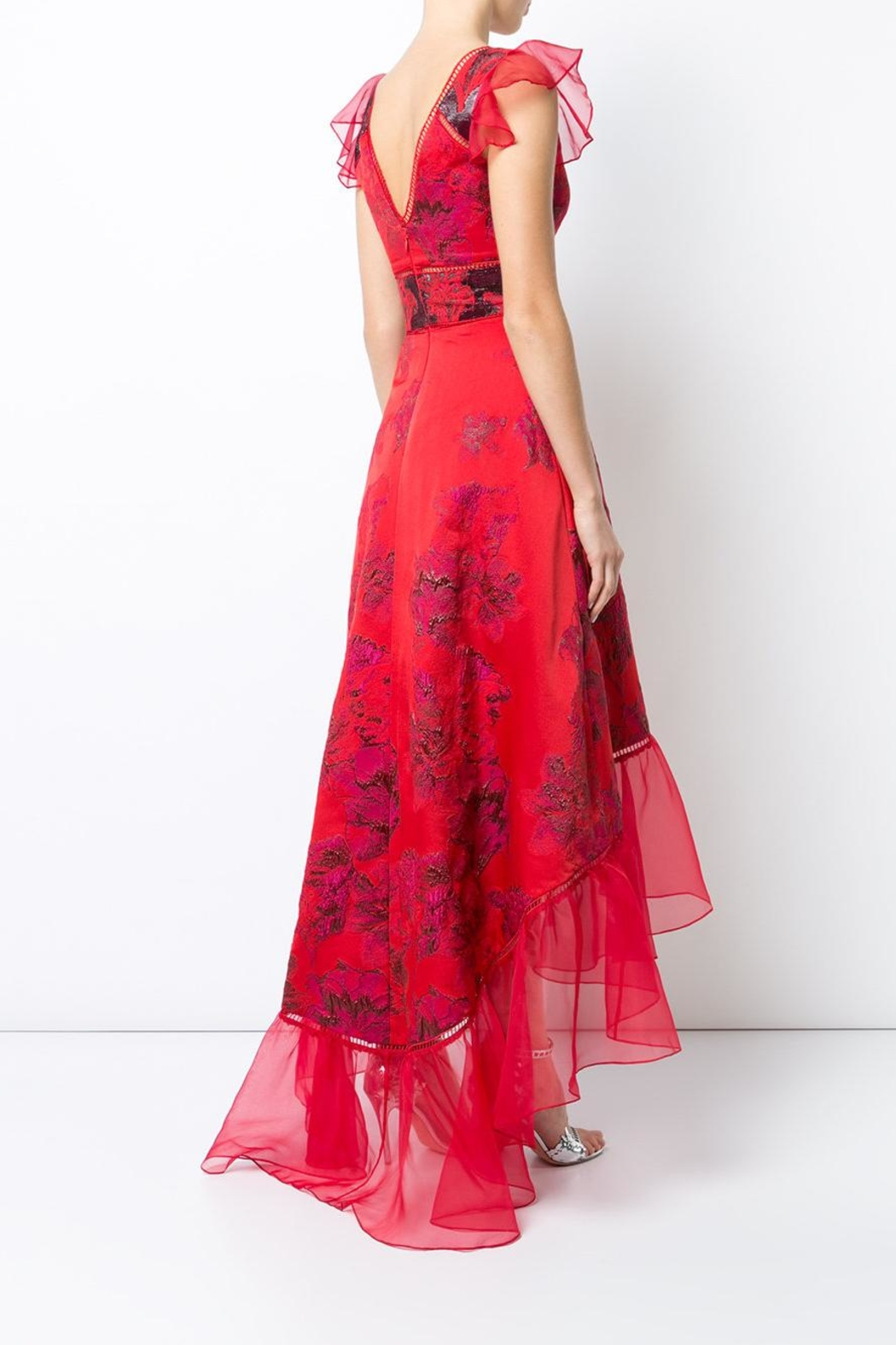 Notte by Marchesa High Low Plunging Gown - Front Full Image