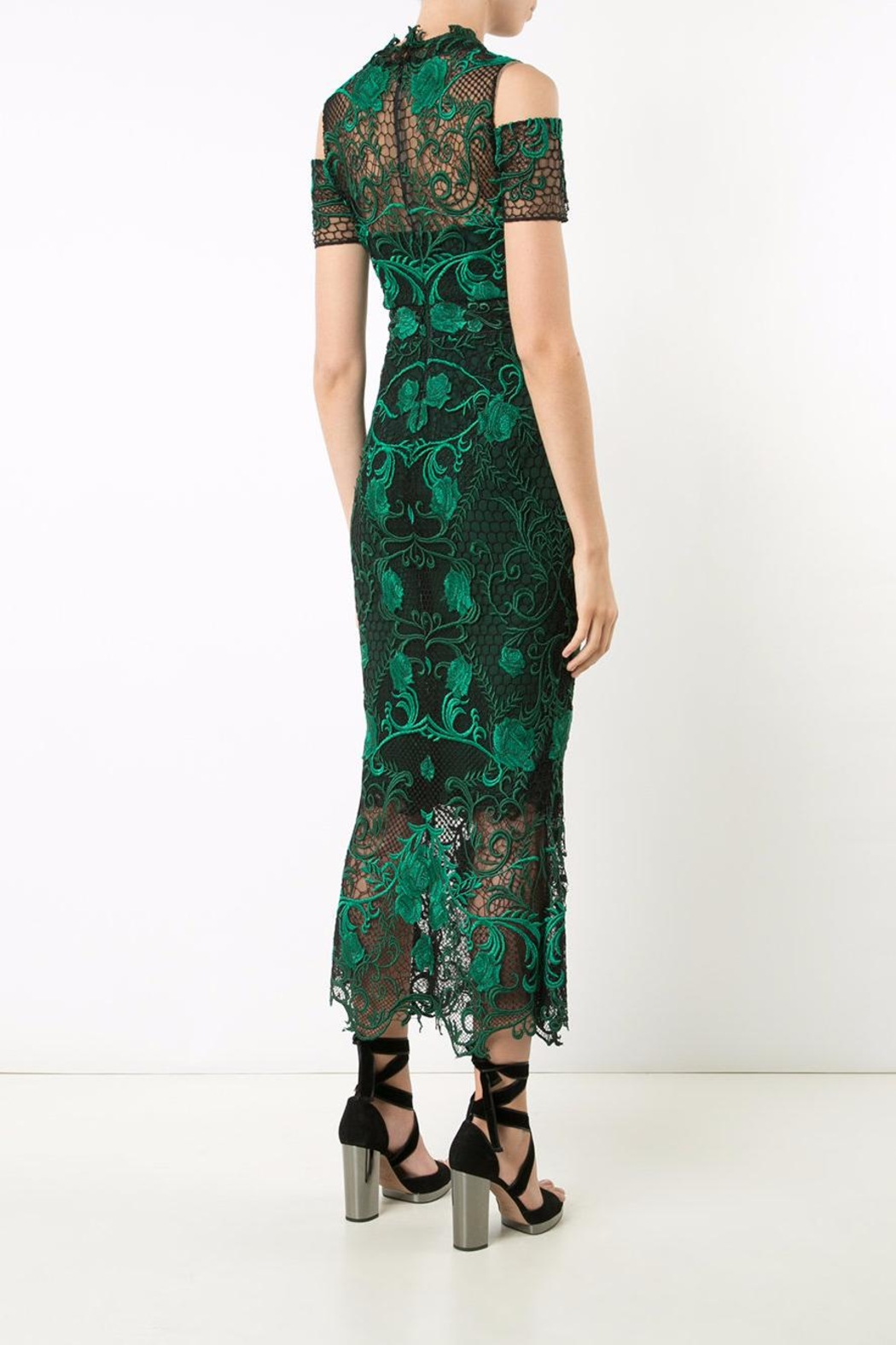 Notte by Marchesa Lace Tea Dress - Front Full Image