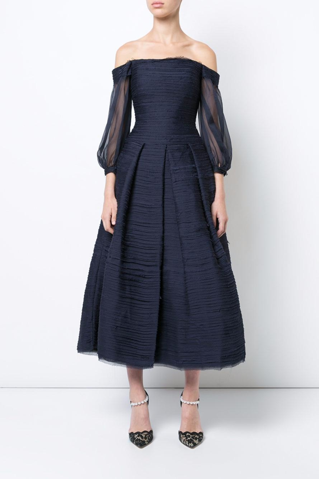 Notte by Marchesa Midi_tea Dress - Front Cropped Image