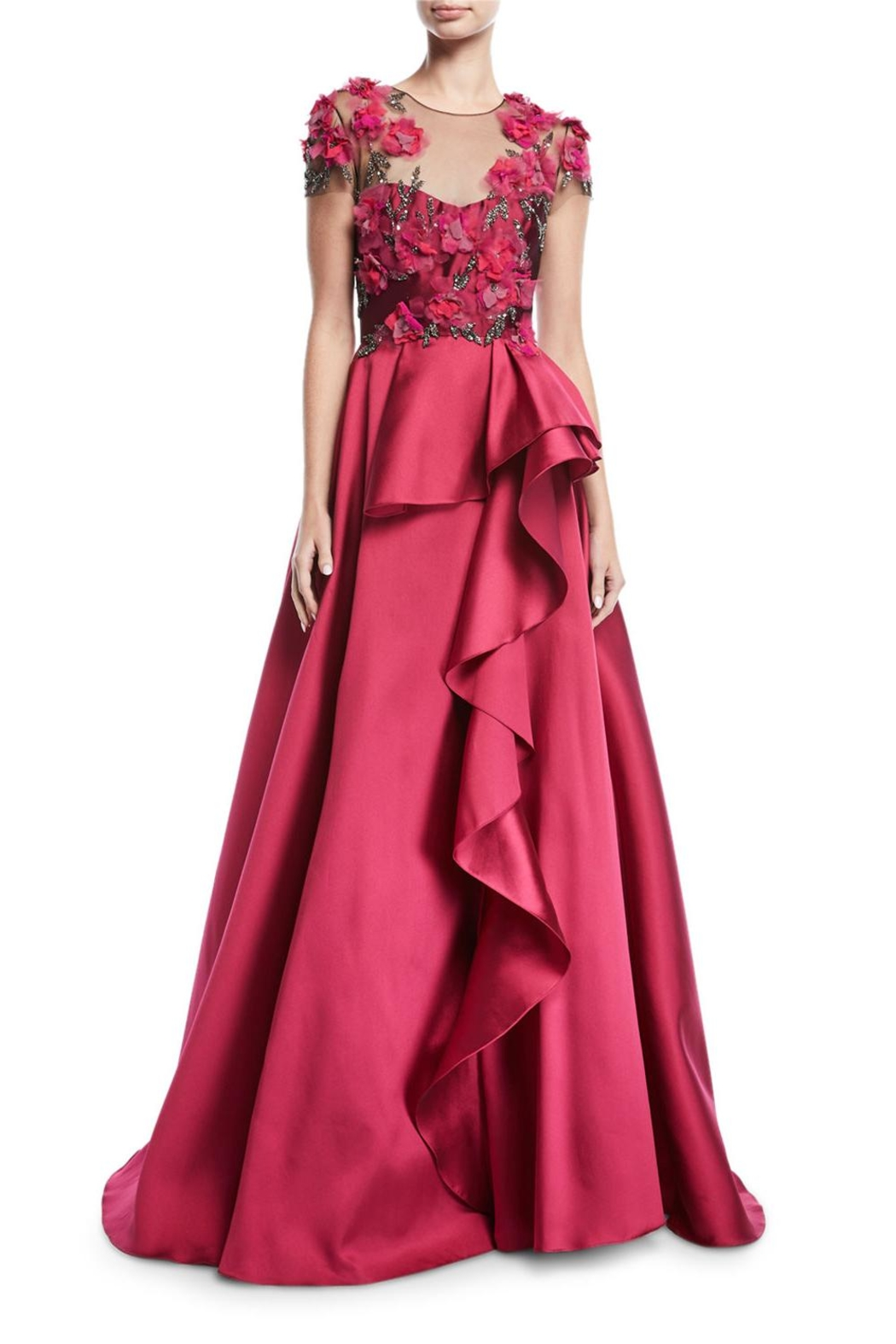 Marchesa Mikado Ball Gown - Front Cropped Image