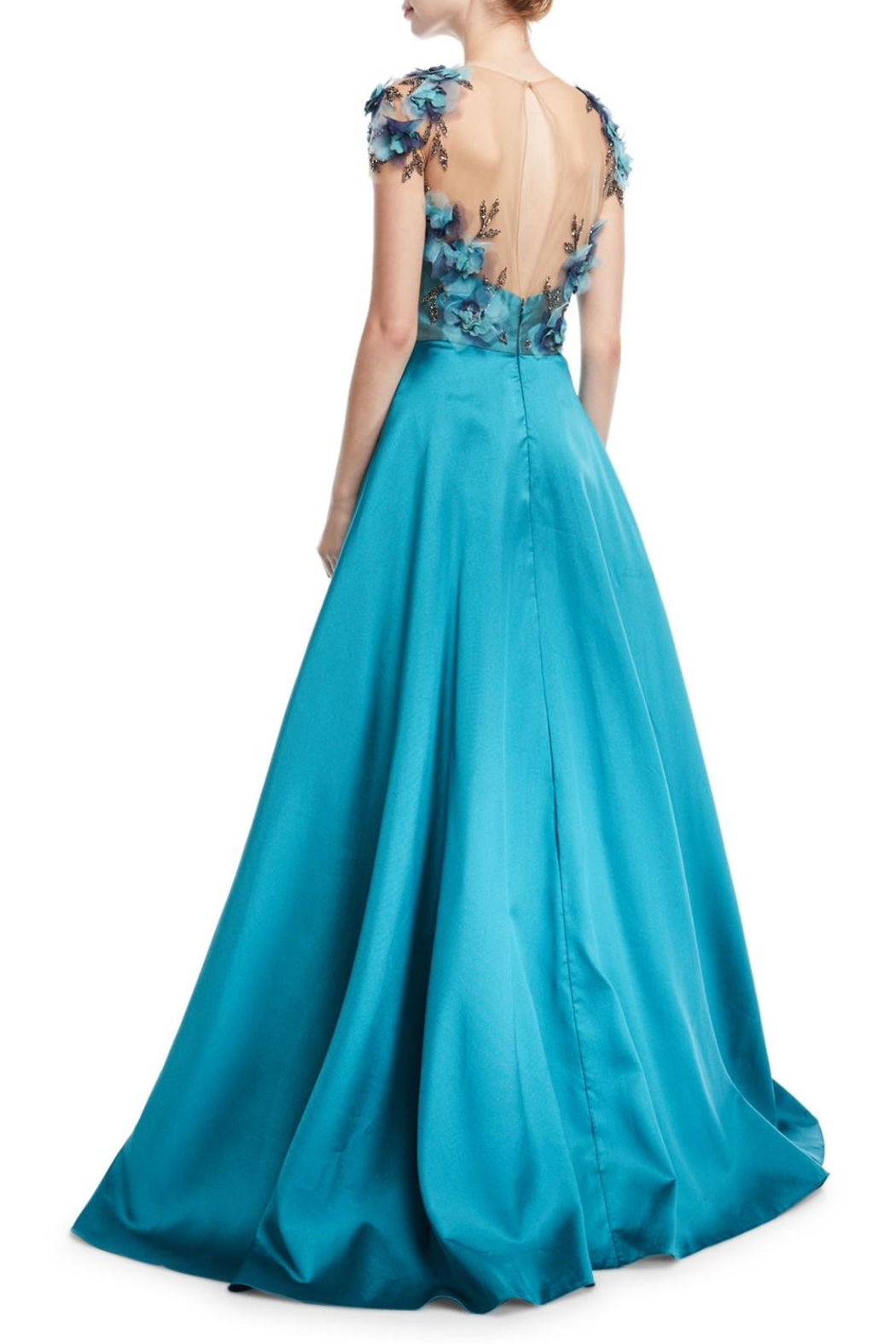 Notte by Marchesa Mikado Ball Gown - Front Full Image