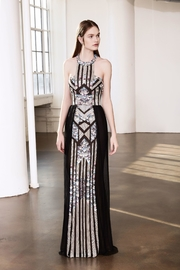 Notte by Marchesa Sequin Halter Gown - Product Mini Image