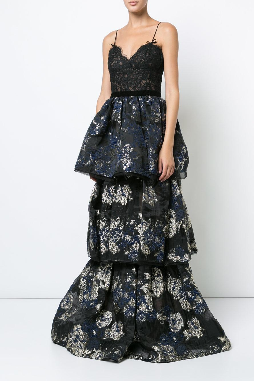 Notte by Marchesa Sleeveless Brocade Gown - Main Image