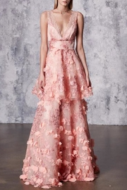 Marchesa Sleeveless Embroidered Gown - Front cropped
