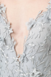 Marchesa Sleeveless Embroidered Gown - Side cropped