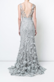Marchesa Sleeveless Embroidered Gown - Front full body