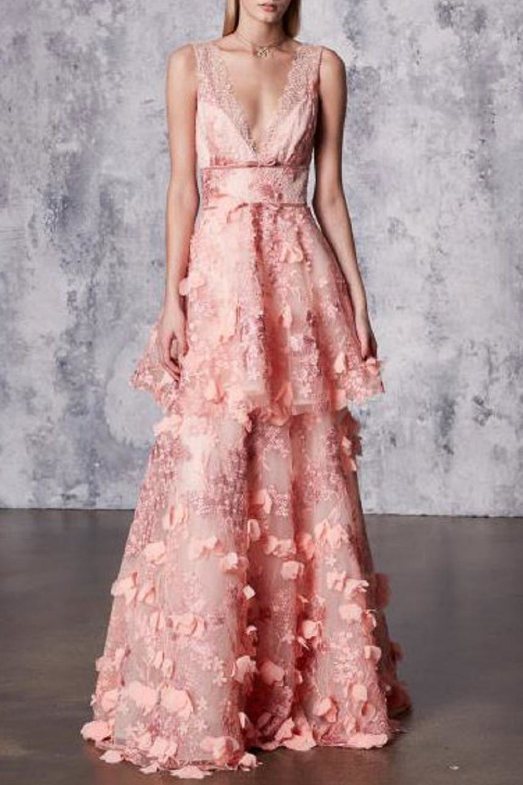 Notte by Marchesa Sleeveless Embroidered Gown - Main Image