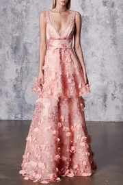 Notte by Marchesa Sleeveless Embroidered Gown - Front cropped